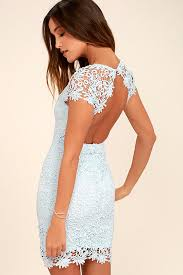 blue lace dress backless dress light blue dress lace dress 58 00