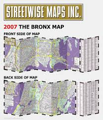 New York Street Map by Streetwise The Bronx Map Laminated City Center Street Map Of The
