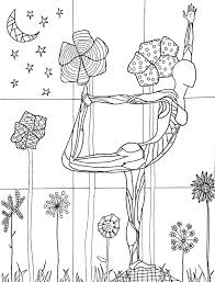 a coloring page from