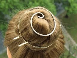 bun holder gold hair pin hair clip with hair fork hair barrette bun
