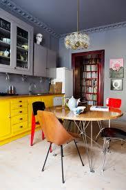 meuble cuisine jaune chaise de cuisine jaune