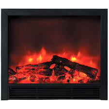 y decor blaze 33 in recessed electric fireplace in black fp765