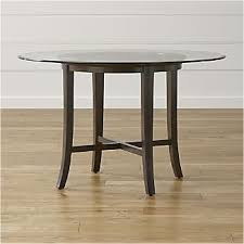 glass dining room table glass dining tables crate and barrel