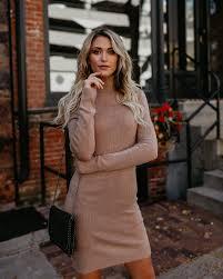 sweater dress back to cool tencel sweater dress light mocha vici