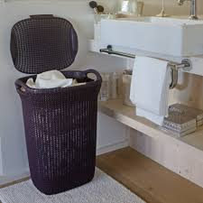 stylish laundry hampers curver knit laundry hamper 57l with lid u2013 the home shoppe
