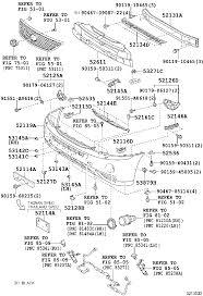 lexus singapore parts lexus rx400hmhu38r awxgkw body front bumper bumper stay