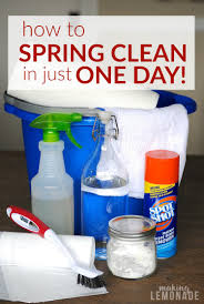 get your spring cleaning done in just one day making lemonade