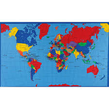 Diy World Map by Amazon Com Multi Panel Map World Multi Fabric