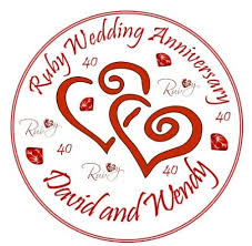 buy ruby wedding anniversary cake topper edible icing 7 5