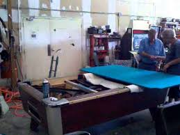how to refelt a pool table video pool table recover youtube