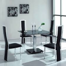 Cheap Glass Dining Room Sets Glass Dining Room Table With White Leather Chairs Dining Room
