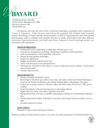 resume legal assistant cover letter