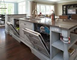 kitchen islands with sink and dishwasher formal white kitchen with blue island mullet cabinet regarding