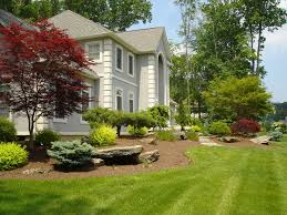 Garden Inside House by Modern White Wall Houses Front Garden That Can Be Decor With Grey