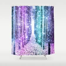 Purple Ombre Curtains Fantasylandscape Shower Curtains Society6