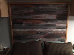 bed room headboard made with laminate flooring laminate flooring