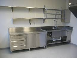 Stainless Steel Kitchen Sink Cabinet by Kitchen Delightful Industrial Kitchen Design With Stainless