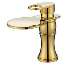 Copper Bathroom Faucet by Oasd Deck Mount Bathroom Faucet Full Copper Waterfall Washbasin