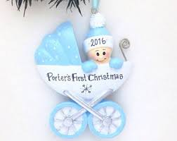 personalized baby boy ornament blue baby s 1st