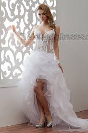 wedding dresses high high low spaghetti straps a line wedding dresses