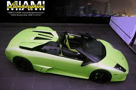 Lamborghini Murcielago Green - detail on 2009 lamborghini murcielago roadster zhwbu47s09la03322