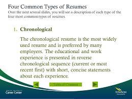 types resume four types of resumes resume writing workshop four types of