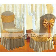 cloth chair covers wholesale luxury beige plain with yellow big tow tie banquet chair