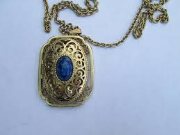 vintage blue stone necklace images Best of antique white gold locket best jewelry jpg