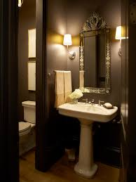 traditional home stunning powder room with bold black walls