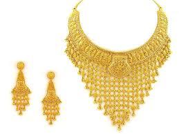 gold necklace set indiabizclub