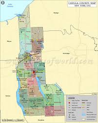 New York State Counties Map by Cayuga County Map Map Of Cayuga County Ny
