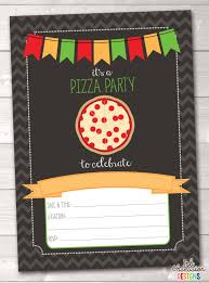 instant download pizza party invitation pizza party birthday