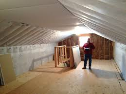 ceiling and knee walls insulated and in attic loft bedrooms