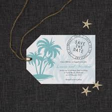 save the date luggage tags blue tropics save the date luggage tags be my guest