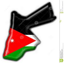 Flag Jordan Jordan Button Flag Map Shape Stock Illustration Illustration Of