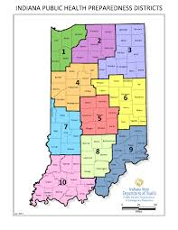 State Of Indiana Map Isdh Preparedness Districts