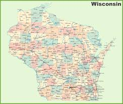 Wisconsin Lakes Map by Map Of Wisconsin State Map Of America