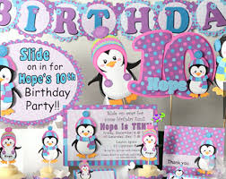 penguin party for baby shower or birthday party decorations