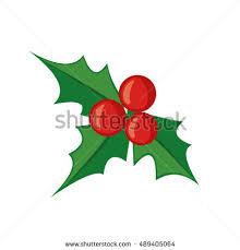 christmas mistletoe christmas mistletoe icon flat style isolated stock vector