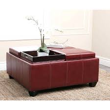 Leather Storage Ottoman With Tray Red Storage Ottoman Target Default Name Red Storage Ottoman With