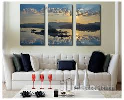 3 piece rectangle modern paintings home decor beautiful seascape