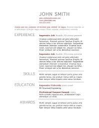 Resume Examples Microsoft Word Resume Examples Microsoft Word