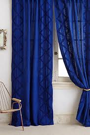 Royal Blue Curtains Appliqued Lace Curtain Color Blue Ships And Anthropologie