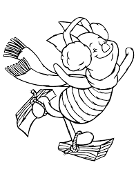 piglet ice skating coloring u0026 coloring pages