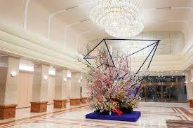 Hotel Flower Decoration Keio Plaza Hotel Tokyo Hosts Exhibition Of Spectacular Ikebana