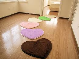 shaggy practical cute heart shape carpet area rug slip resistant