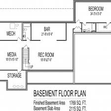 one house plans with basement awesome basement home office as as basement one level house