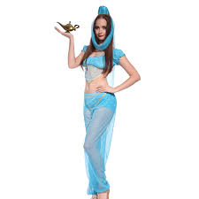amazon com genie princess jasmine aladdin fancy dress belly