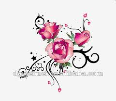 Tribal Tattoos With Roses - fashion clipart clipground
