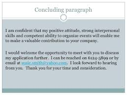 concluding a cover letter resume cover letter ending paragraph